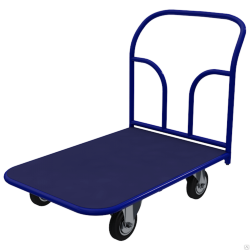 Платформенная тележка с резиновым покрытием 700х1200. Без колес